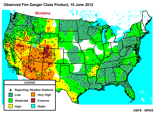 Forest Fire Map Montana.Multispectral Satellite Applications Monitoring The Wildland Fire