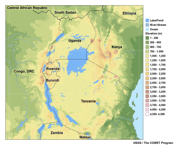 Lake Victoria On Map Of Africa.Tropical Mesoscale And Local Circulations